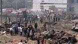 На месте взрыва образовалась воронка диаметром 4 метра и глубиной 1,5-2 метра.