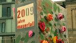 В центре столицы Германии возвели символическую стену в виде гигантских костяшек домино