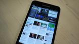 Заглавная страница Вестей.Ru помещается на экране Galaxy Note целиком...