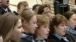 Бронзовый профиль Шнитке открывался под музыку Шнитке в исполнении студентов колледжа