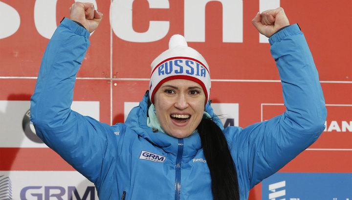 Татьяна Иванова завоевала золото чемпионата России по санному спорту