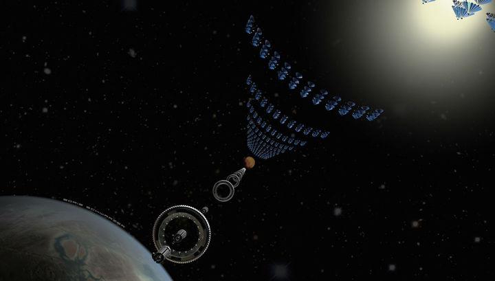 Космический поезд доставит землян наМарс за37 часов