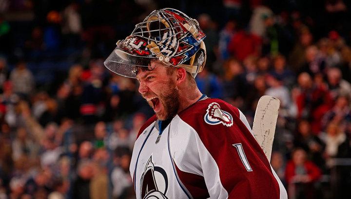 """НХЛ. Вратарь """"Колорадо"""" Варламов признан третьей звездой дня"""