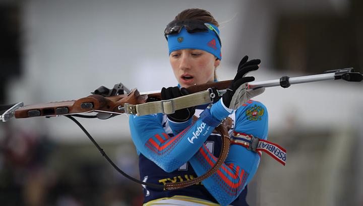 Биатлонистка Миронова стала первой в отборочной гонке на Кубок мира