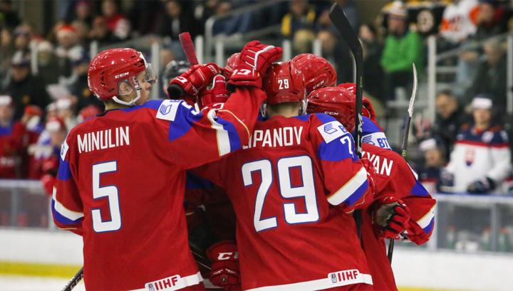 Российские юниоры победили Словакию и вышли в 1/4 финала чемпионата мира