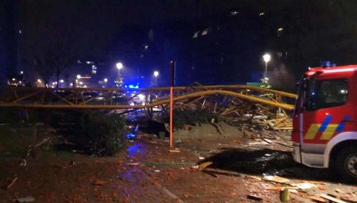 В Бельгии один человек погиб и еще четверо пострадали в результате падения крана