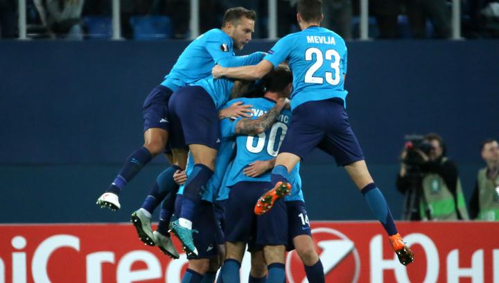 """""""Зенит"""" разгромил """"Селтик"""", выйдя в следующий раунд Лиги Европы"""