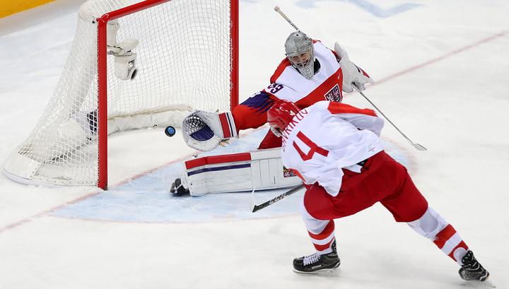 Россияне ведут 2:0 в хоккейном матче против Чехии