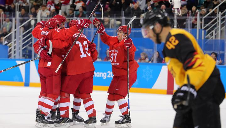 Российские хоккеисты против Германии: 1:0 после первого периода