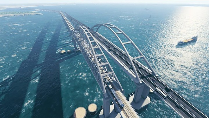 Автодвижение по Крымскому мосту откроют в мае