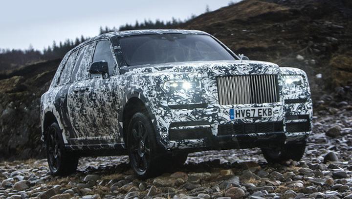 Тесты первого вседорожника Rolls-Royce покажут в соцсетях
