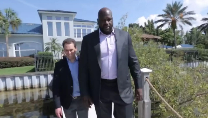 Звезда баскетбола О'Нил продает свой особняк с бассейном и водопадом