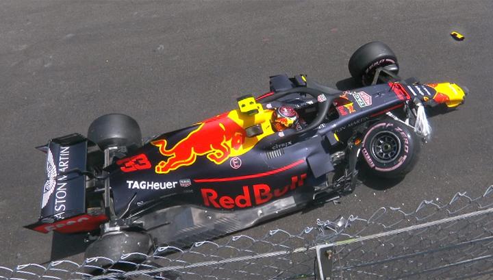 Формула-1. Ферстаппен разбил свою машину в Монако
