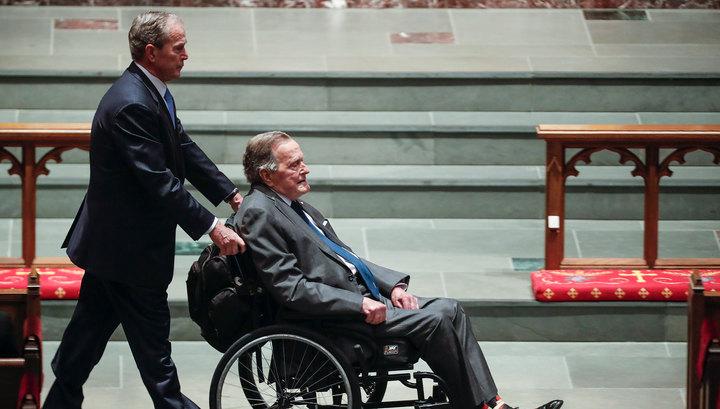 В США госпитализирован экс-президент Джордж Буш-старший