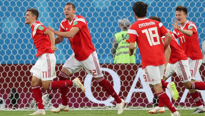 Россия - Египет - 1:0. Россияне вышли вперед после автогола