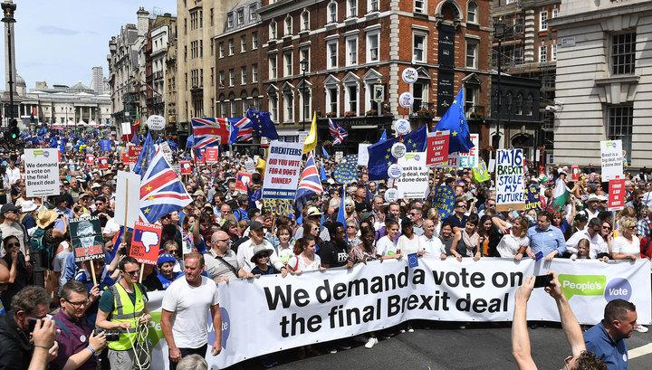 Сторонники евроинтеграции устроили марш в центре Лондона