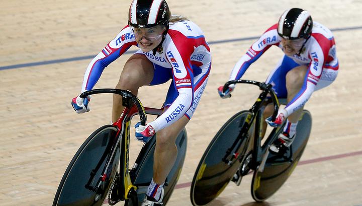 Войнова и Шмелева выиграли командный спринт на чемпионате Европы по велоспорту