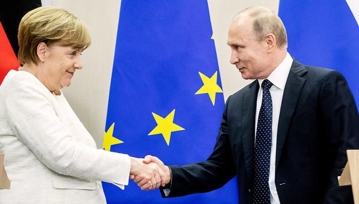 В Кремле назвали повестку переговоров Путина и Меркель