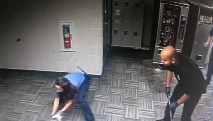 Стражи порядка поймали енота, забравшегося в здание департамента полиции