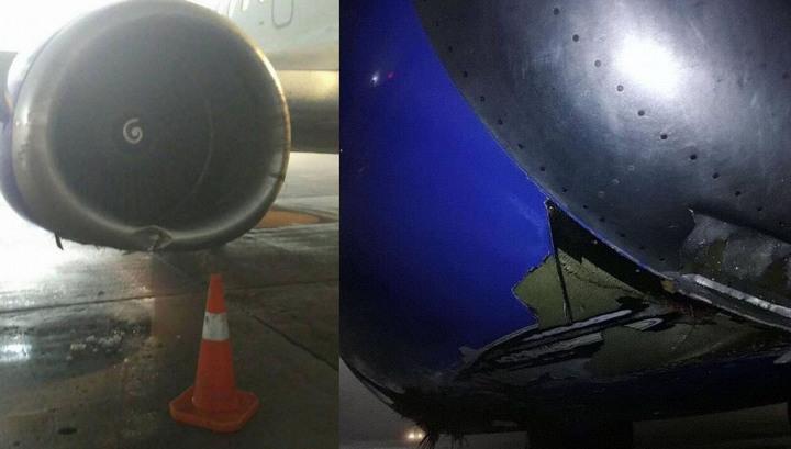 """Появились фото повреждений, полученных самолетом """"Белавиа"""" после посадки в киевском аэропорту"""