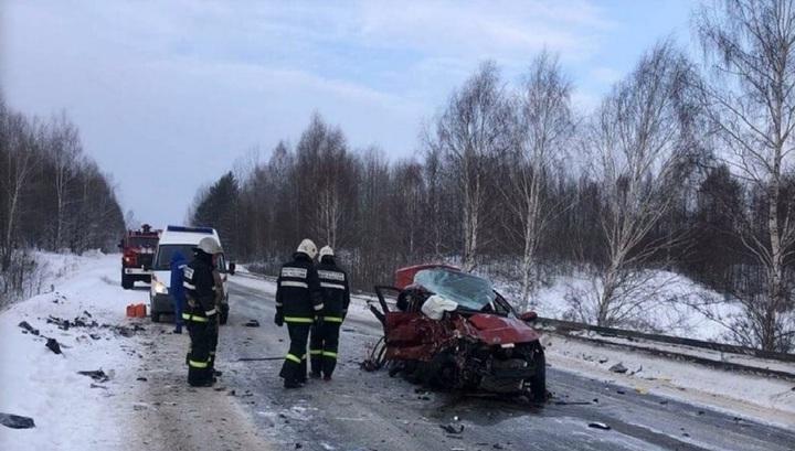 Появилось видео ДТП в Пермском крае, где погибли два человека