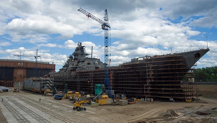 Второй крупнейший крейсер в мире отремонтирован пока наполовину