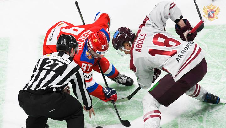 Хоккеисты сборной России проиграли команде Латвии в матче Еврочелленджа