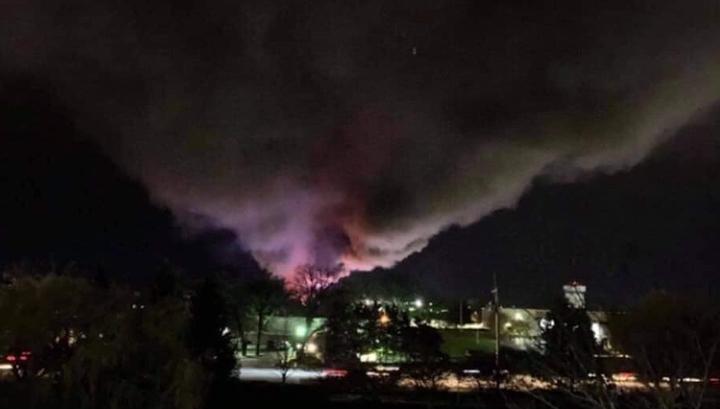 После взрыва на химзаводе в США госпитализированы четыре человека