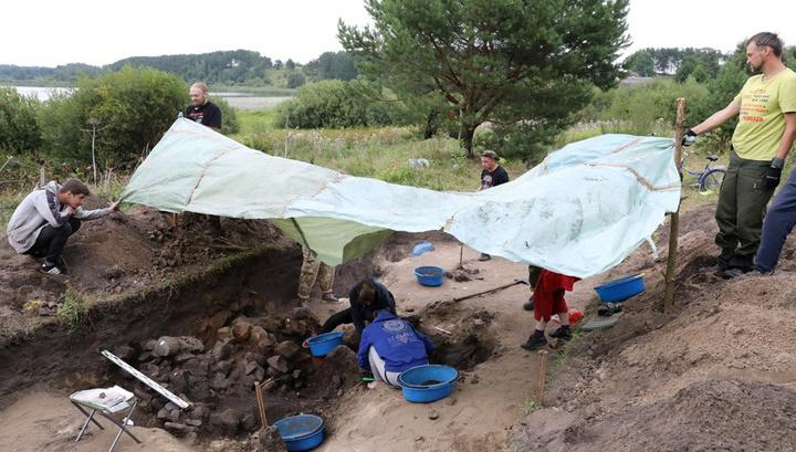 Найдены фрагменты резиденции полоцких князей