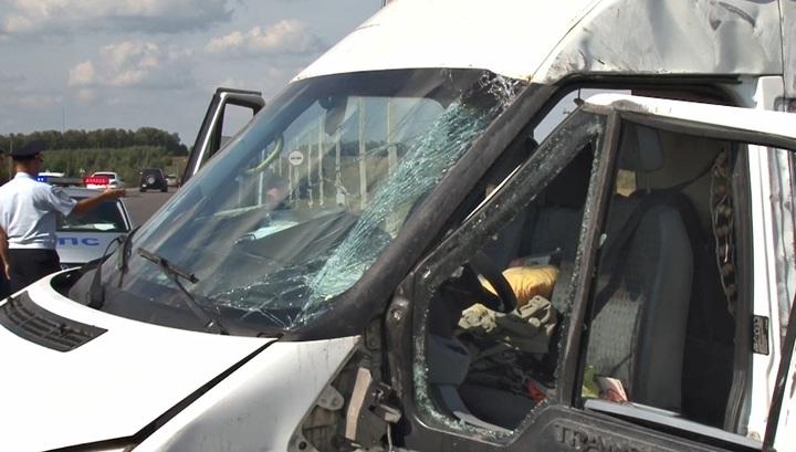 Девять человек пострадали в ДТП с маршруткой в Тульской области