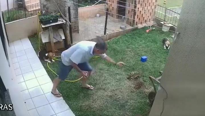 Охотник за кротами устроил взрыв на заднем дворе собственного дома