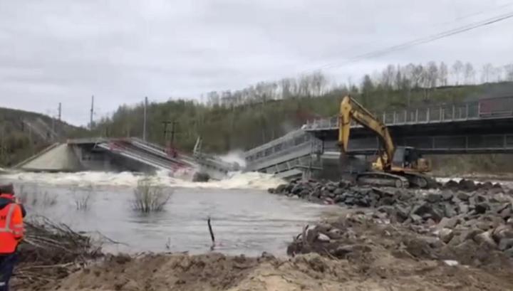 Железнодорожный мост рухнул под Мурманском во время ремонтных работ