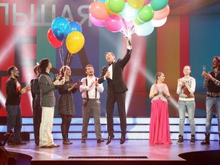 Большая опера - 2016. 4-й тур. Участники поздравляют Андрейса Жагарса / Автор: Вадим Шульц
