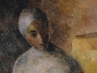 Р. Фальк. Женщина в белой повязке.(Р.В. Идельсон).1922. Собрание ГТГ