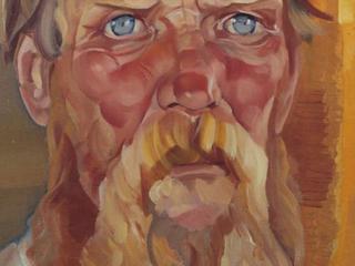 Борис Григорьев. Портрет крестьянина. 1910 - нач. 1920. Х.м