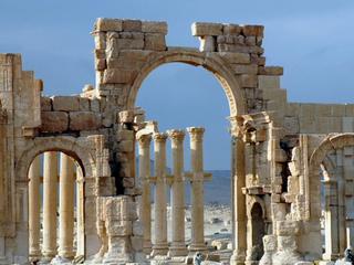 """Кадр из документального фильма Сирия. """"Здесь был рай"""". Древняя Пальмира"""