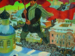 """Борис Кустодиев. """"Большевик"""". 1920"""