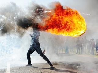 Фандулвази Джайкло. Протесты в городе Грабу (ЮАР). Фото предоставлено пресс-службой МИА «Россия сегодня».