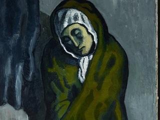 """Эксперты раскрыли секрет картины Пикассо """"Нищенка, сидящая на корточках"""""""