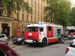 В Москве загорелся Государственный архив литературы и искусства