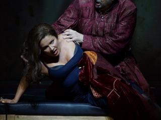 "Автор: Опера Джузеппе Верди ""Трубадур"". Анна Нетребко, Пласидо Доминго © Salzburger Festspiele / Forster"