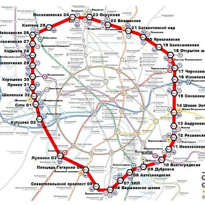 Московские центральные диаметры разгрузят транспортную систему на 10-12 процентов