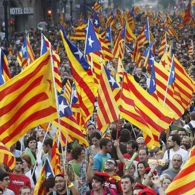 Акции протеста прошли в день всеобщей забастовки в Каталонии