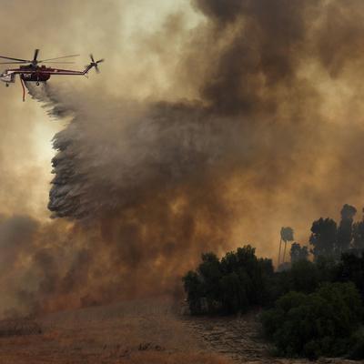 Порядка 70 крупных природных пожаров зафиксированы в десяти штатах на западе США