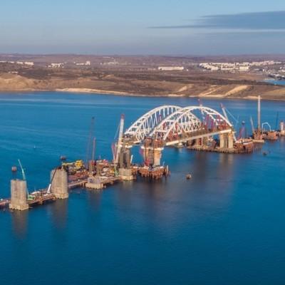 Владимир Путин прибыл на строящийся Крымский мост