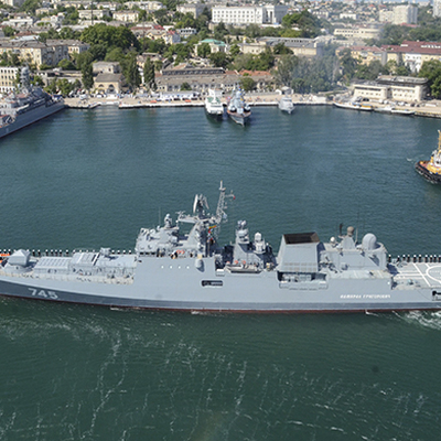 Репетиция военно-морского парада прошла в Санкт-Петербурге и Кронштадте