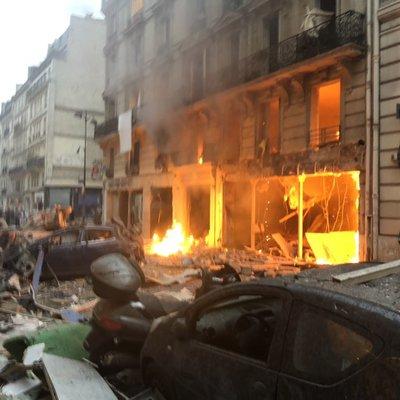 Мощный взрыв прогремел в центральной части Парижа