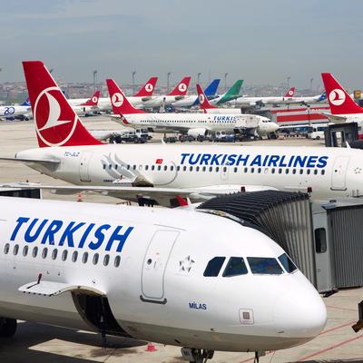 В столичном аэропорту Внуково приземлился самолет компании Turkish Airlines