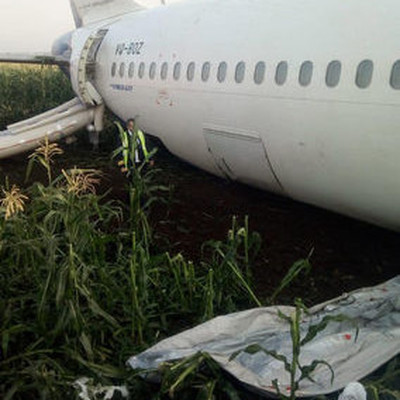 Бортовые самописцы аварийно севшего самолета А321 оказались в нормальном состоянии