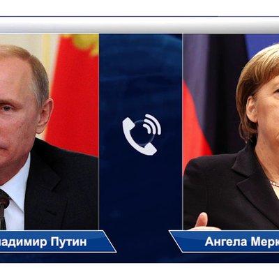 Путин обсудил с Меркель по телефону вопросы урегулирования ситуации на Украине